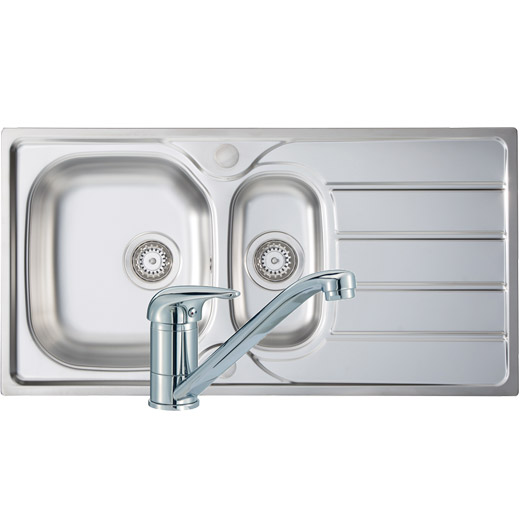 Prima 1.5 Bowl Sink & Tap Pack